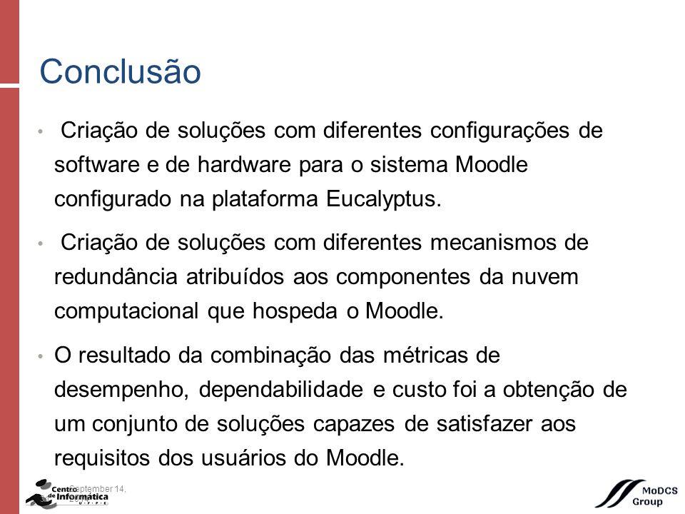 Criação de soluções com diferentes configurações de software e de hardware para o sistema Moodle configurado na plataforma Eucalyptus.