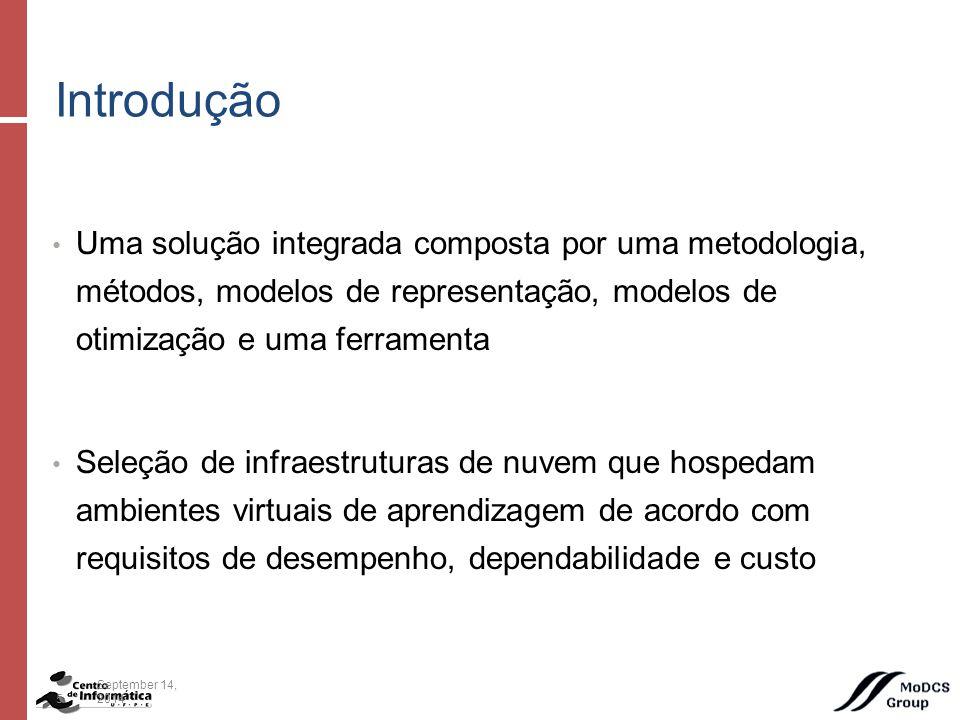 Parâmetros de Dependabilidade dos Componentes Estudo de Caso 26September 14, 2014