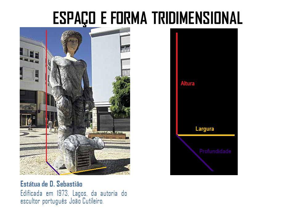 ESPAÇO E FORMA TRIDIMENSIONAL Estátua de D.