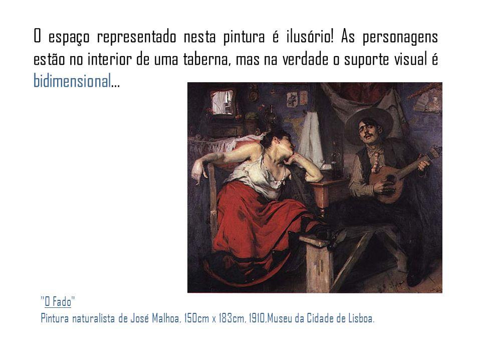 O espaço representado nesta pintura é ilusório.