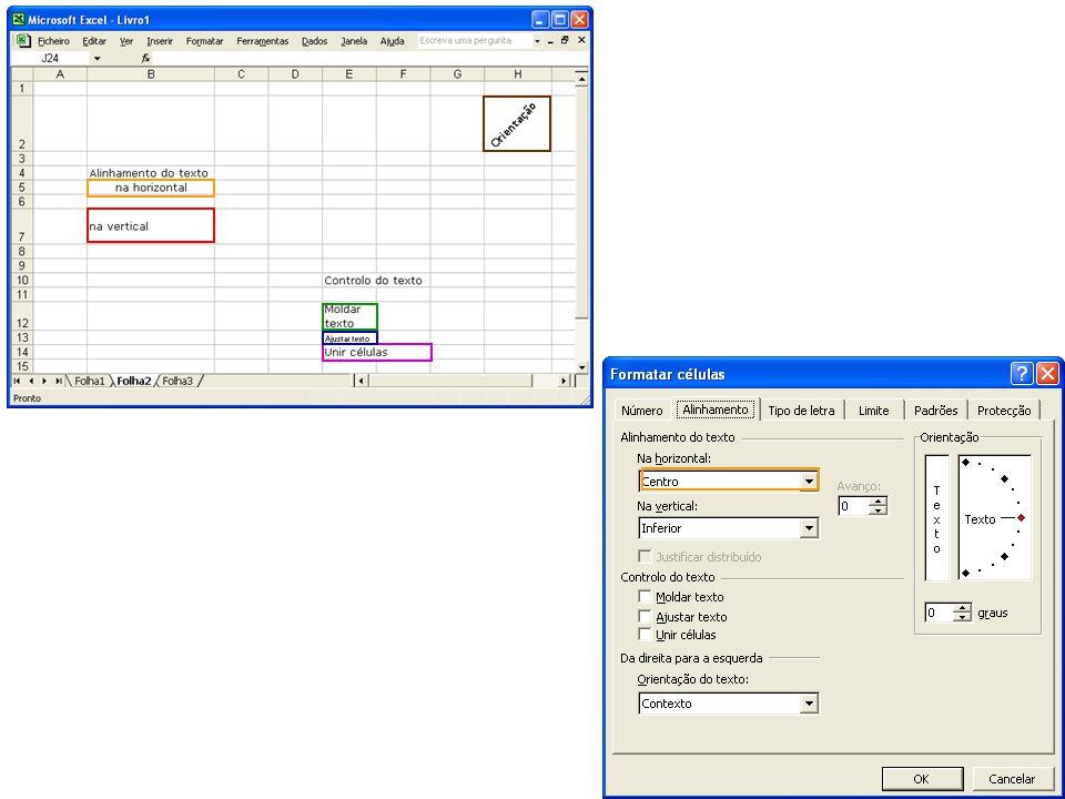 1.Seleccione a célula ou as células a que pretende aplicar a formatação.