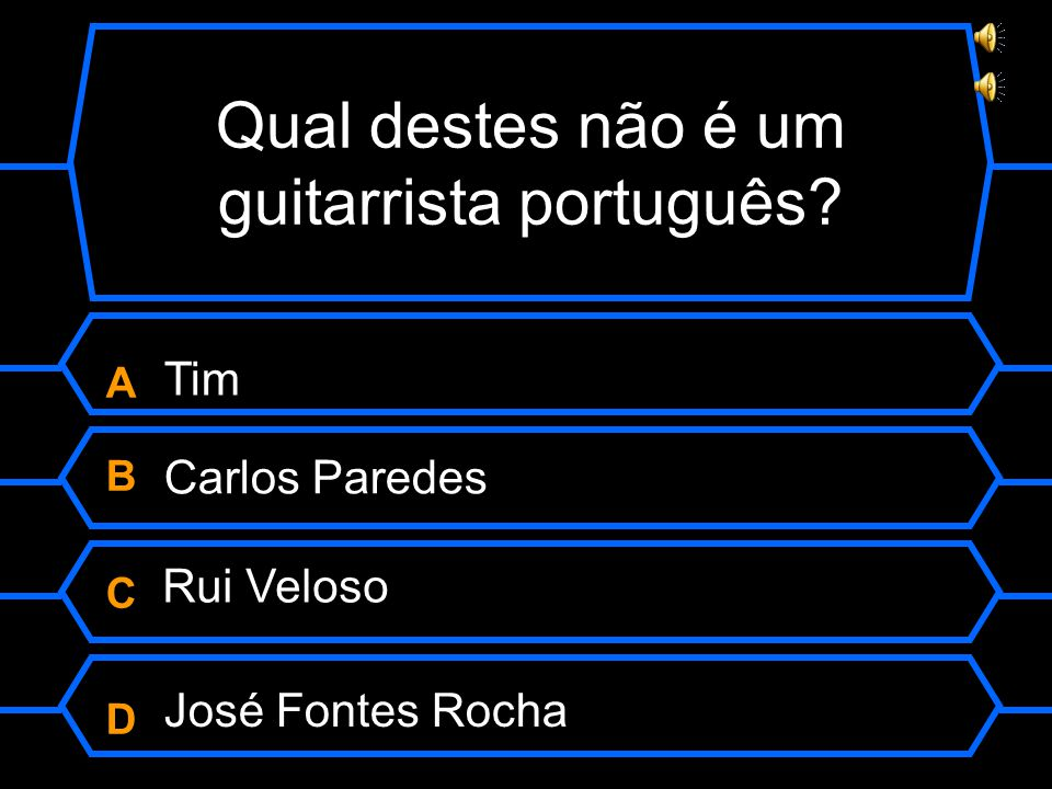 Qual destes não é um guitarrista português.