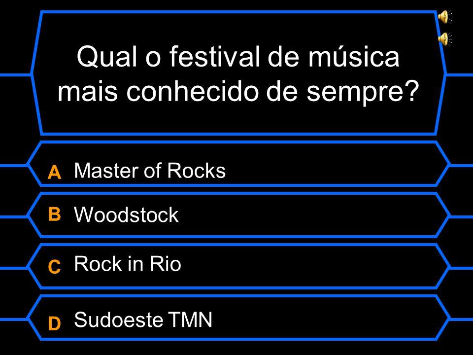 Qual o festival de música mais conhecido de sempre.