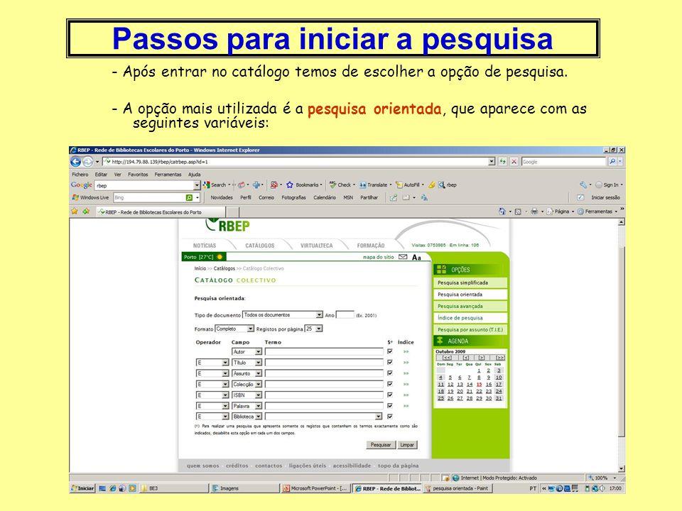CLICAR em: e aparece a página da Rede Local de Bibliotecas Escolares do Porto (RBEP), onde a nossa escola se inclui. Depois é só seguir os passos indi