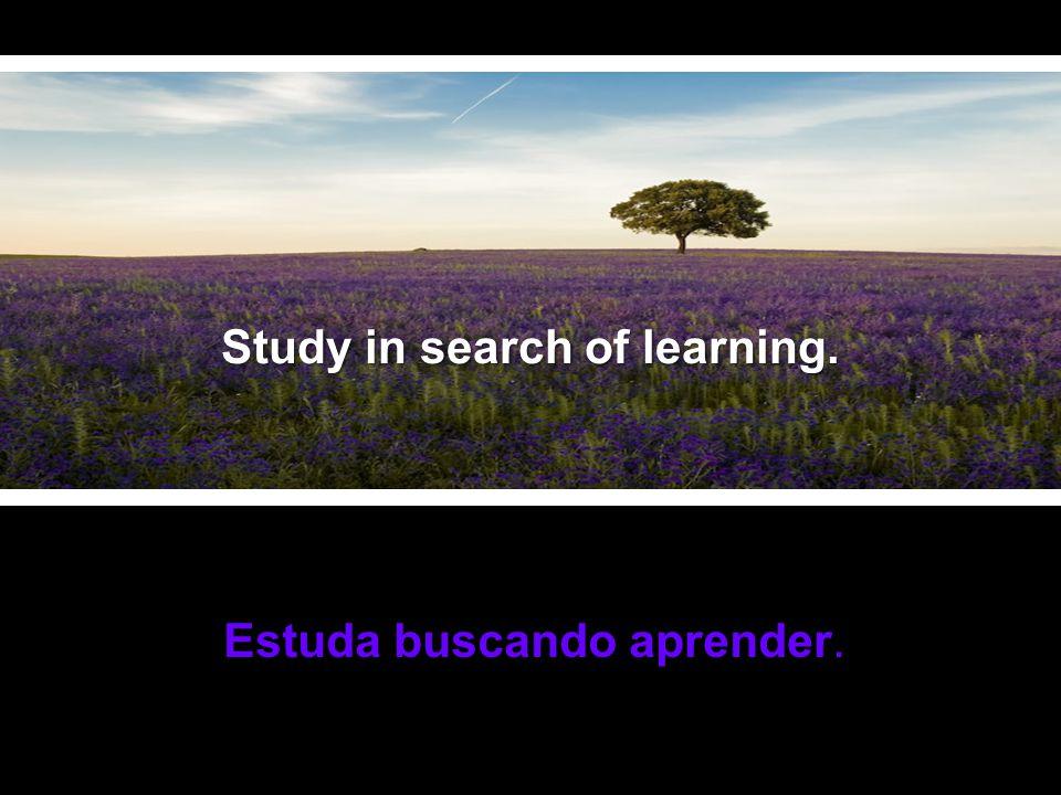 Não contes vantagens nem fracassos. Estuda buscando aprender.