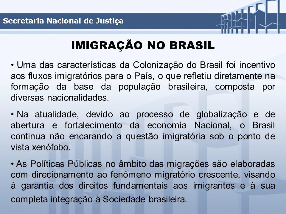 Uma das características da Colonização do Brasil foi incentivo aos fluxos imigratórios para o País, o que refletiu diretamente na formação da base da população brasileira, composta por diversas nacionalidades.