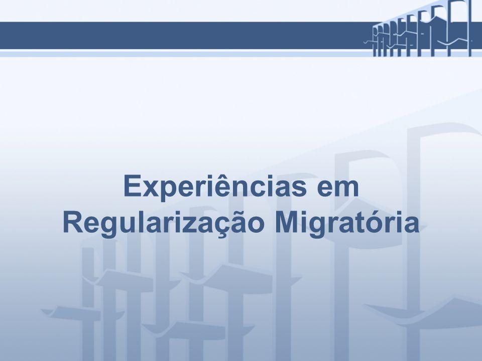 Experiências em Regularização Migratória
