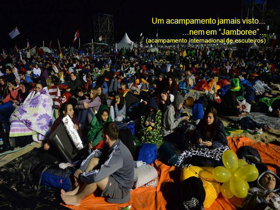 A acolhida de Copacabana...