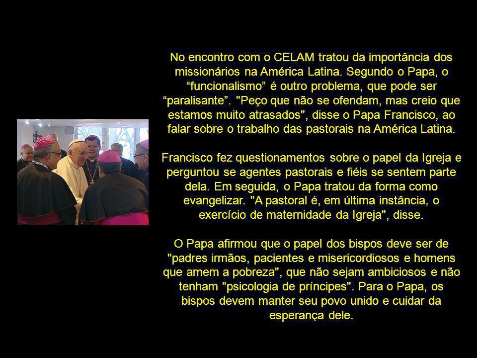 Conselhos de um pai amoroso: Gosto de dizer que a posição de um discípulo missionário não é de centro, mas de periferia , afirmou o Papa Francisco.