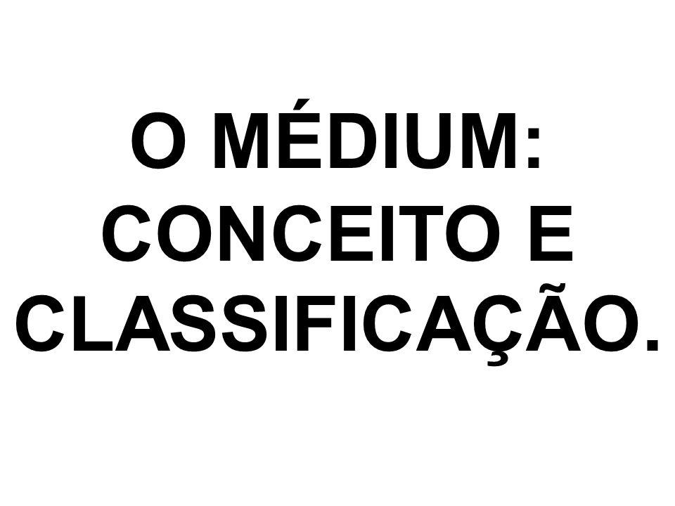 QUESTIONÁRIO DE AVALIAÇÃO 01.Emitir um conceito de médium.
