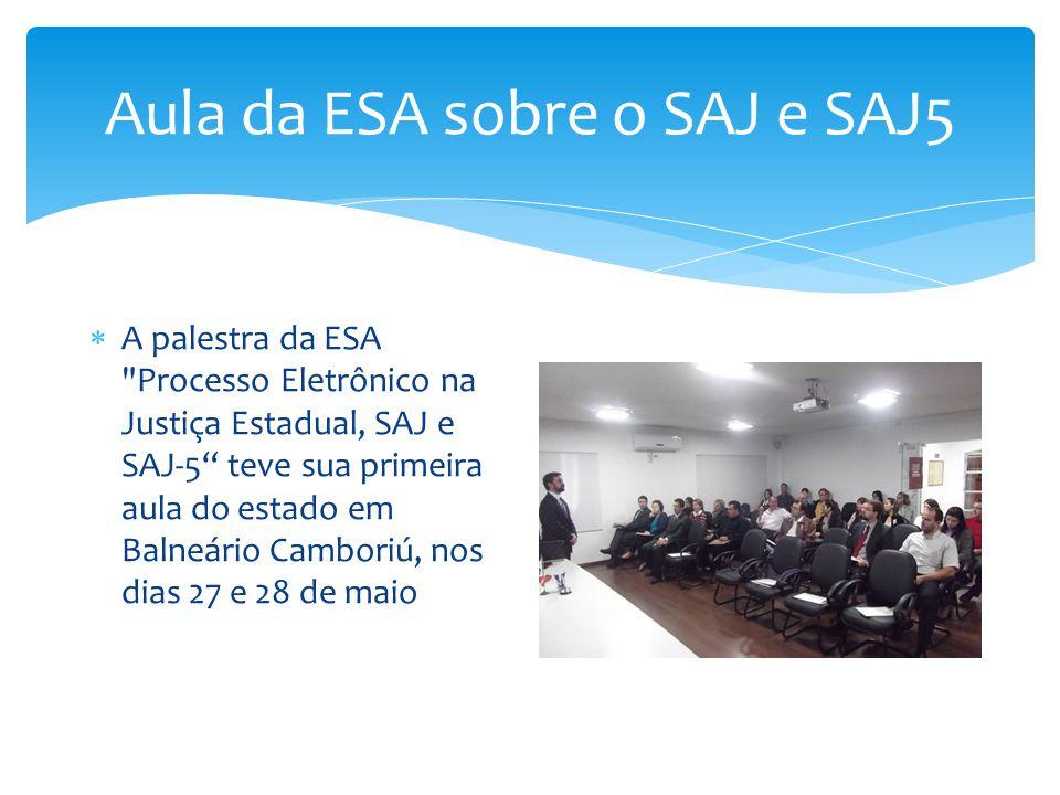 Aula da ESA sobre o SAJ e SAJ5  A palestra da ESA