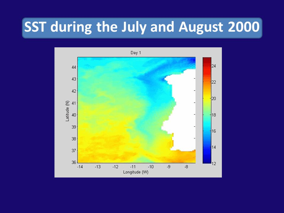 SST during the July and August 2000