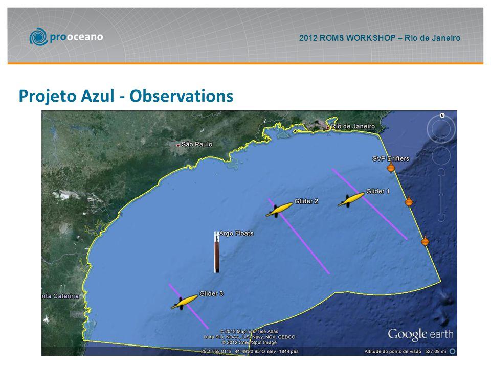 2012 ROMS WORKSHOP – Rio de Janeiro Projeto Azul - Observations