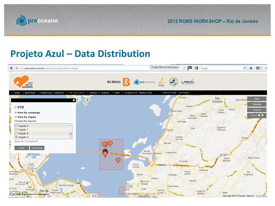 2012 ROMS WORKSHOP – Rio de Janeiro Projeto Azul – Data Distribution