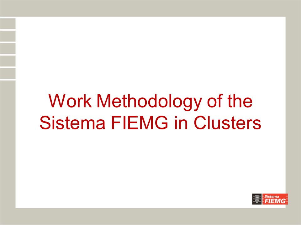 Introduction Promotion policies of clusters and metodologies have been discussed in the world for years.