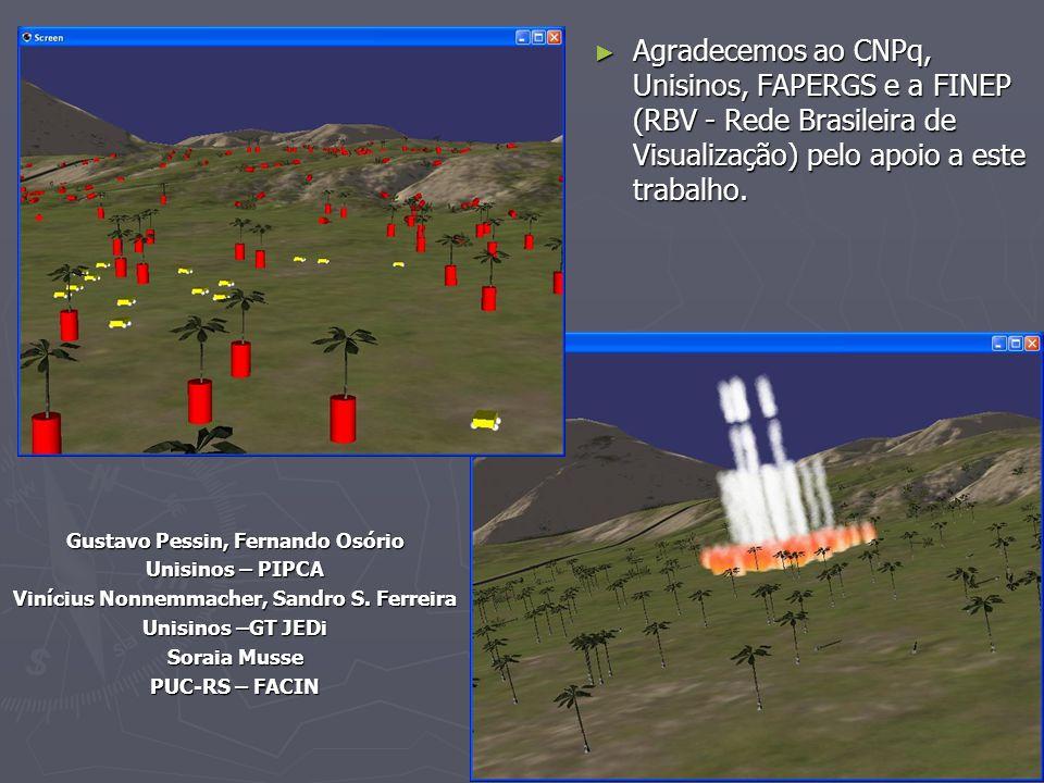 24 31 May 2007 ► Agradecemos ao CNPq, Unisinos, FAPERGS e a FINEP (RBV - Rede Brasileira de Visualização) pelo apoio a este trabalho. Gustavo Pessin,
