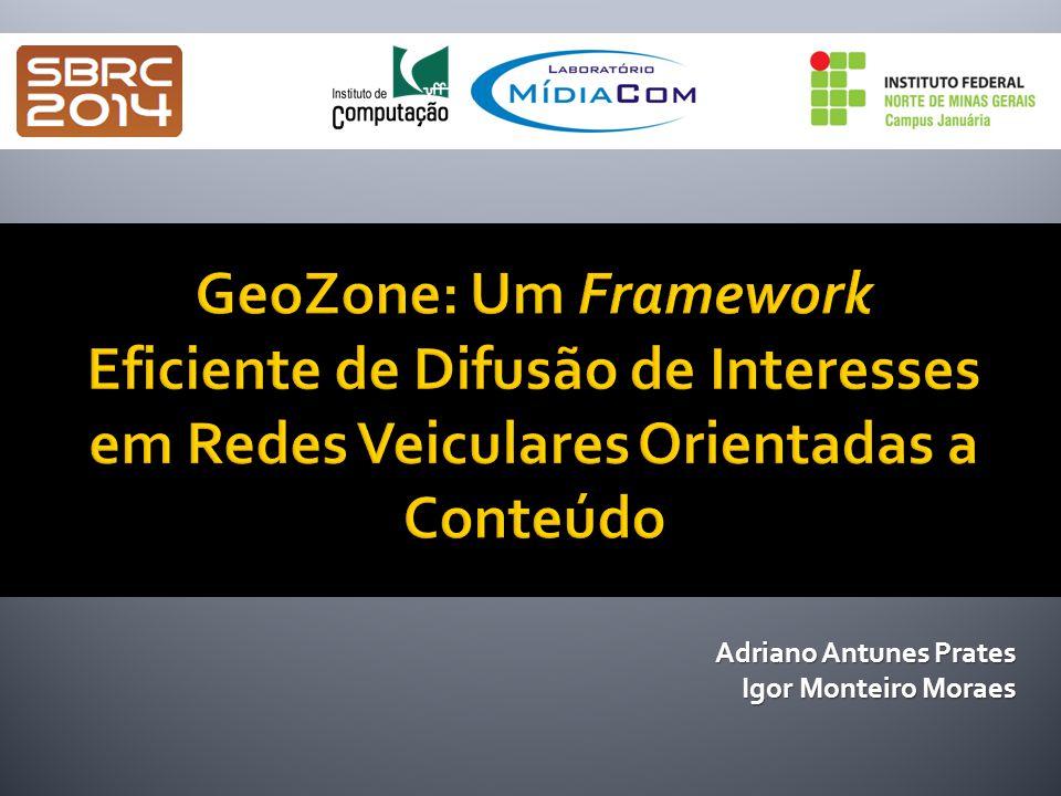  Introdução  Proposta: Framework GeoZone  Geographically-Based Naming Scheme (GBNS)  Zone Forwarding Mechanism (ZFM)  GeoZone Proativo e Não-Proativo  Trabalhos Relacionados  Avaliação  Conclusão 2