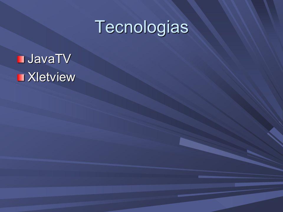 Tecnologias JavaTVXletview