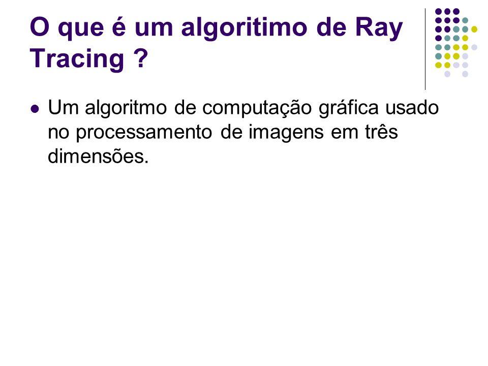 O que é um algoritimo de Ray Tracing .