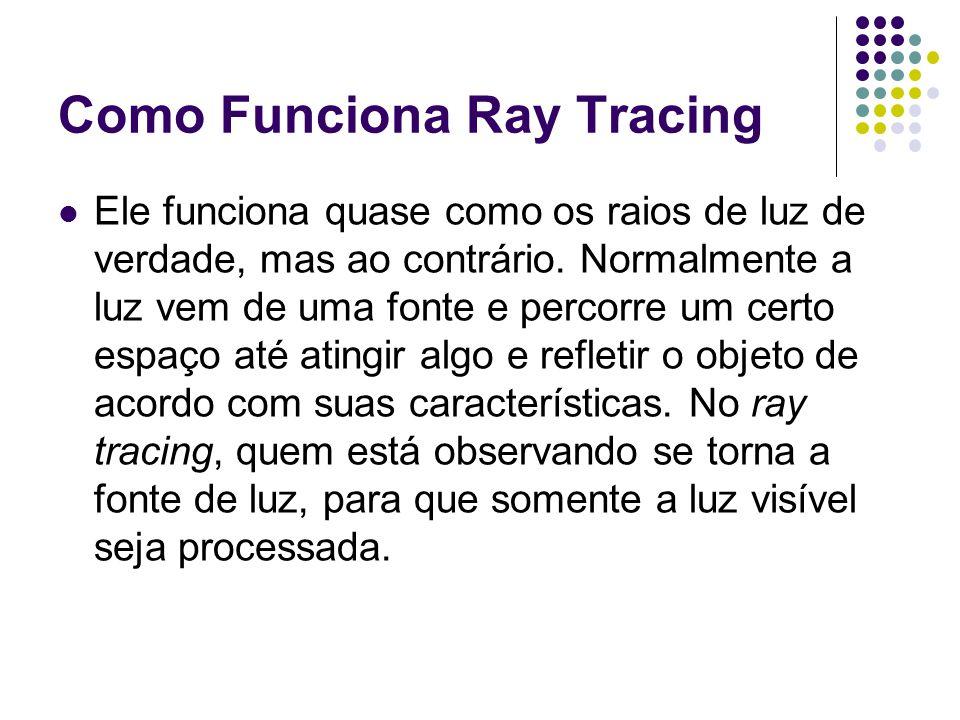 Como Funciona Ray Tracing Ele funciona quase como os raios de luz de verdade, mas ao contrário.