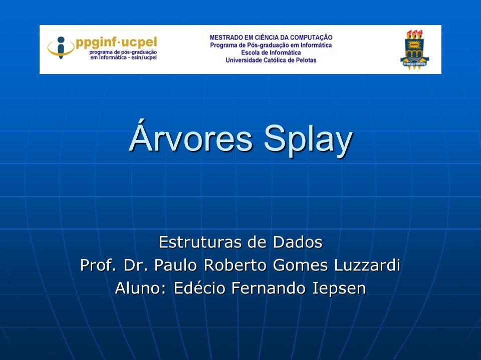 Árvores Splay Estruturas de Dados Prof. Dr. Paulo Roberto Gomes Luzzardi Aluno: Edécio Fernando Iepsen