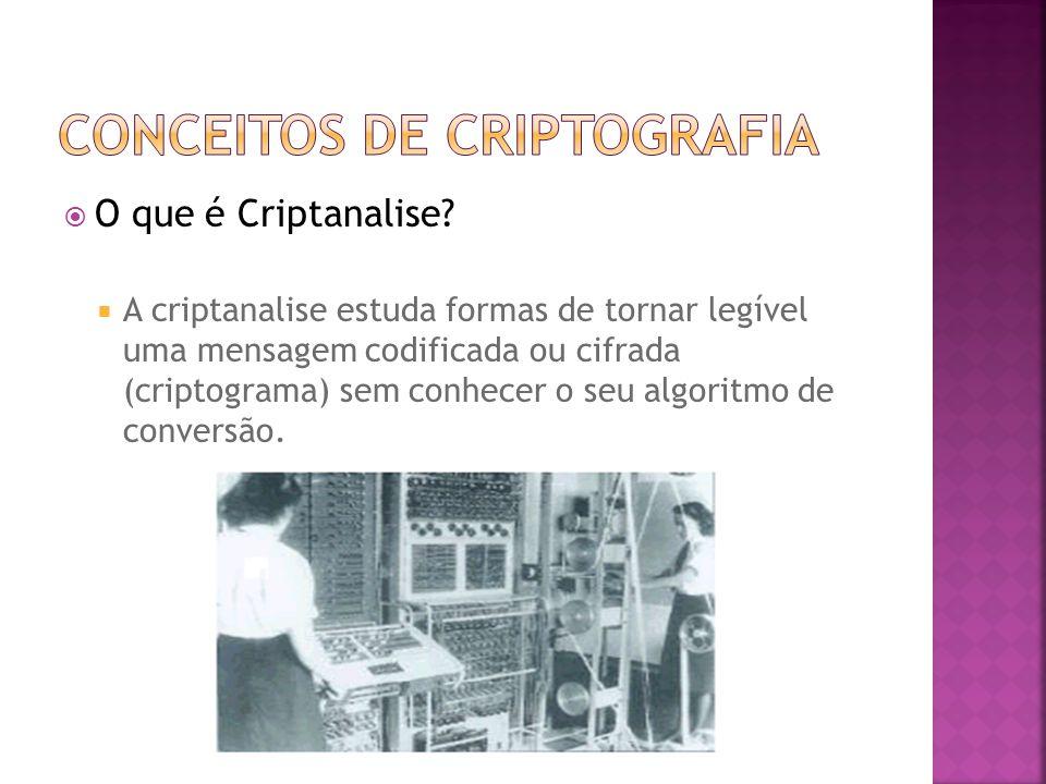  O que é Criptanalise.