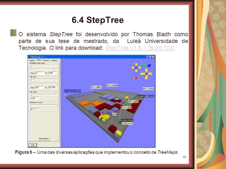 19 6.4 StepTree O sistema StepTree foi desenvolvido por Thomas Bladh como parte de sua tese de mestrado, da Luleå Universidade de Tecnologia.