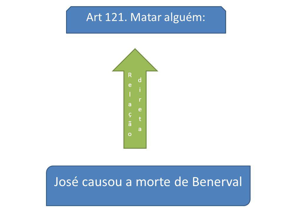 José causou a morte de Benerval Art 121. Matar alguém:
