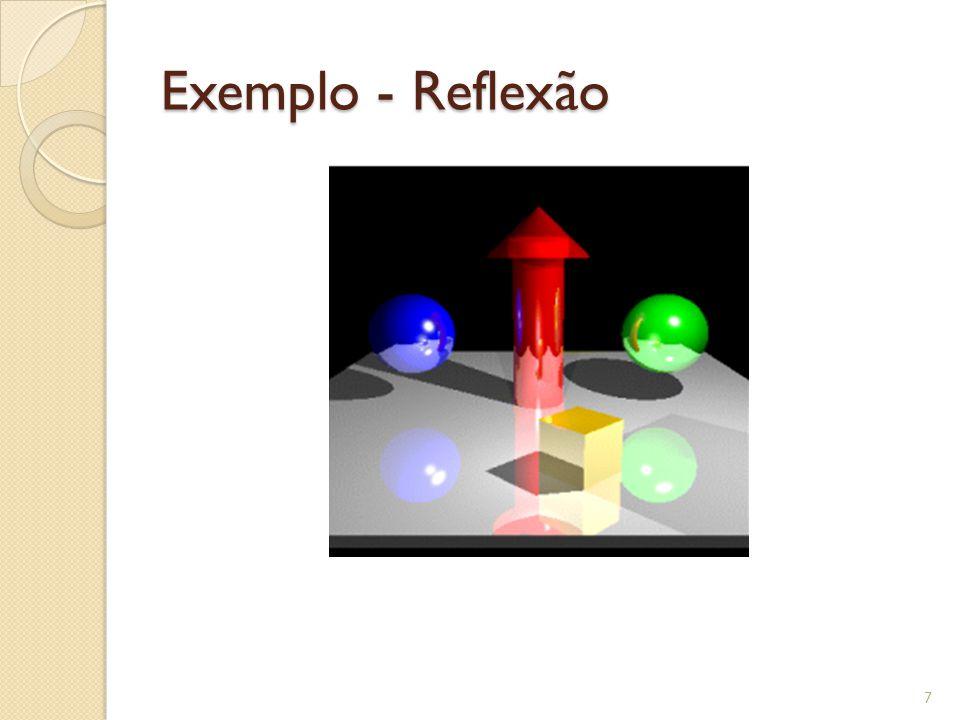Translucência Os raios devem ser distribuídos de acordo com a direção principal da luz transmitida.