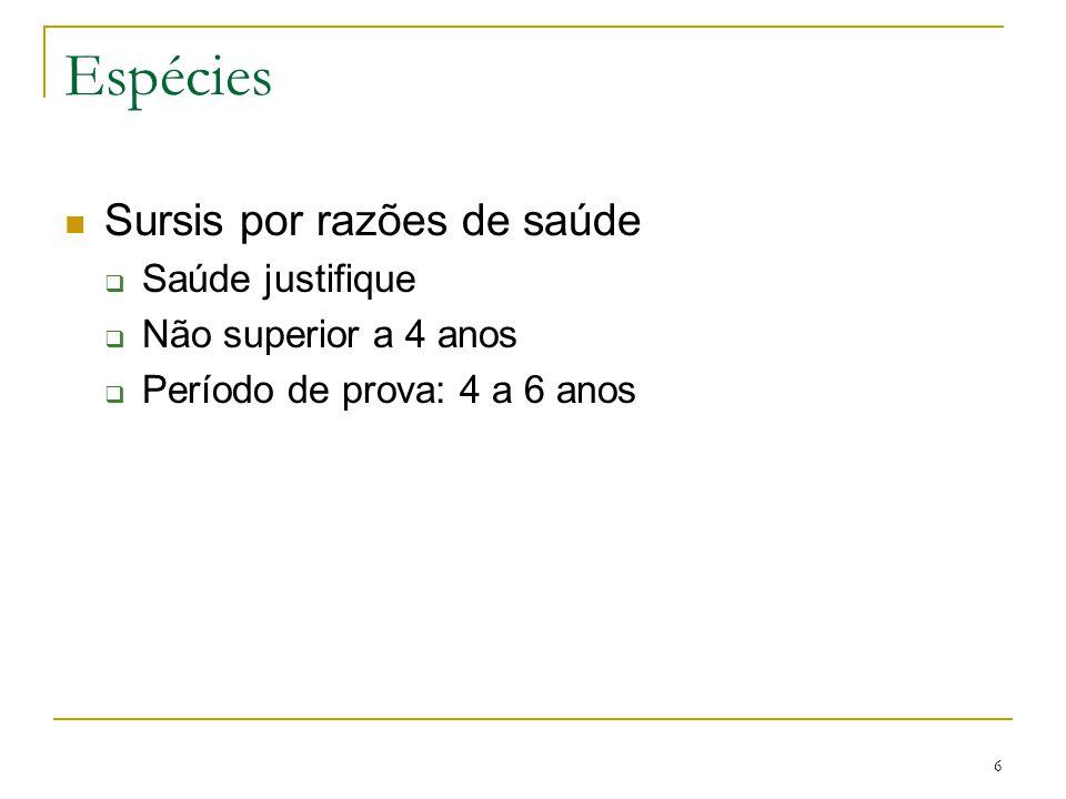 7 Condições do sursis Legais –  §§ 1º e 2º - art.
