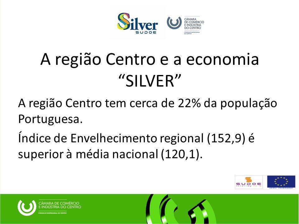 A região Centro e a economia SILVER A região Centro tem cerca de 22% da população Portuguesa.