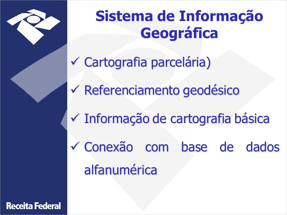 Cartografia parcelária) Cartografia parcelária) Referenciamento geodésico Referenciamento geodésico Informação de cartografia básica Informação de car