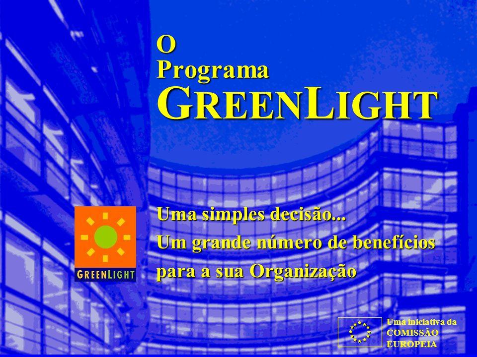Uma iniciativa da COMISSÃO EUROPEIA O Programa G REEN L IGHT Uma simples decisão...