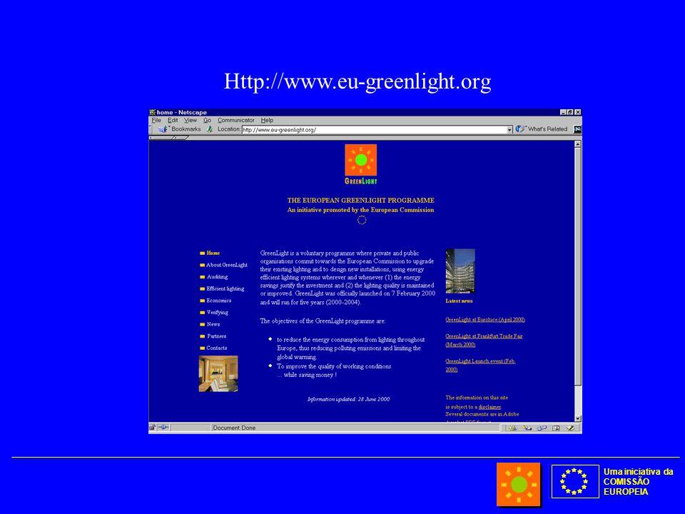 Uma iniciativa da COMISSÃO EUROPEIA Http://www.eu-greenlight.org