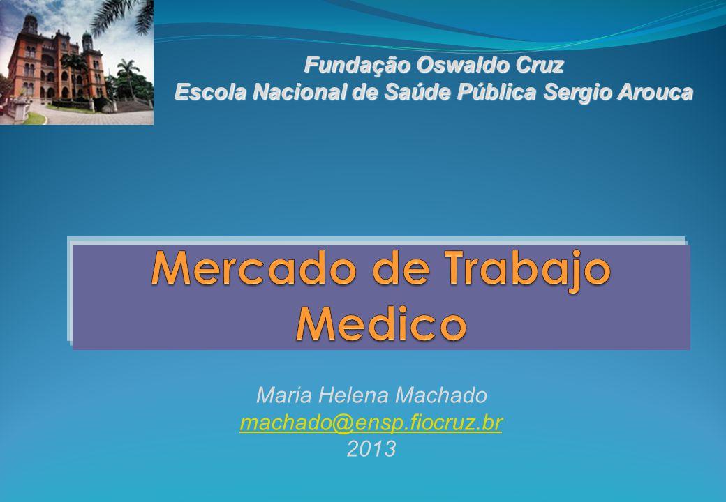 Fundação Oswaldo Cruz Escola Nacional de Saúde Pública Sergio Arouca Maria Helena Machado machado@ensp.fiocruz.br 2013