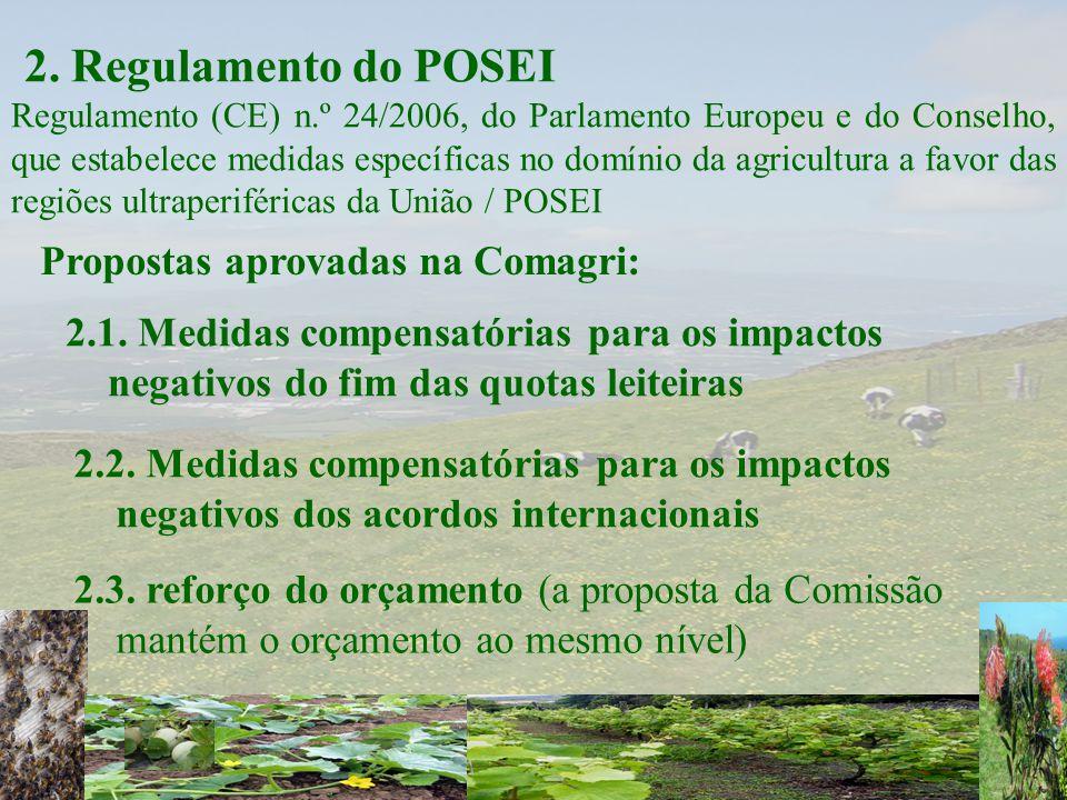 2. Regulamento do POSEI Regulamento (CE) n.º 24/2006, do Parlamento Europeu e do Conselho, que estabelece medidas específicas no domínio da agricultur