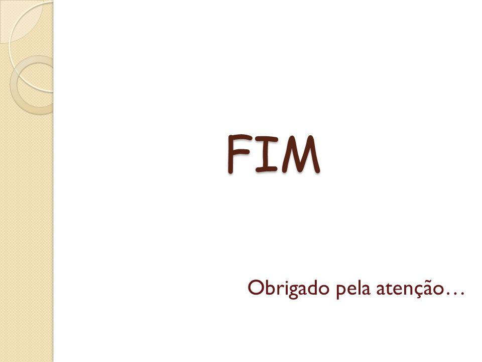 FIM Obrigado pela atenção…