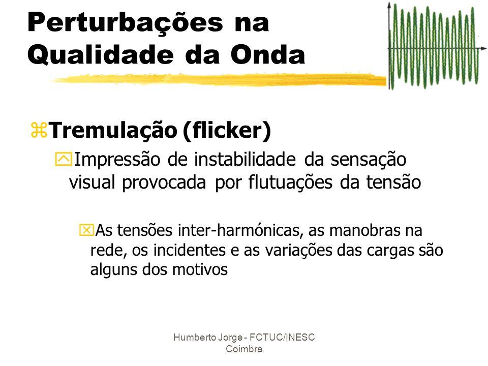Humberto Jorge - FCTUC/INESC Coimbra zTremulação (flicker) yImpressão de instabilidade da sensação visual provocada por flutuações da tensão xAs tensõ