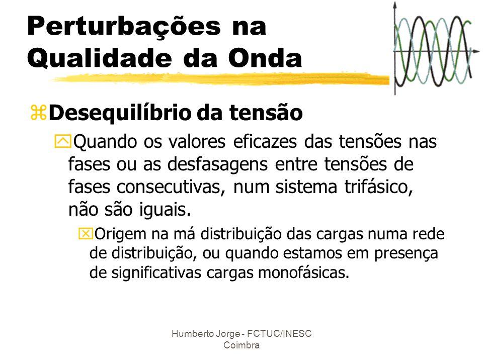 Humberto Jorge - FCTUC/INESC Coimbra zDesequilíbrio da tensão yQuando os valores eficazes das tensões nas fases ou as desfasagens entre tensões de fas