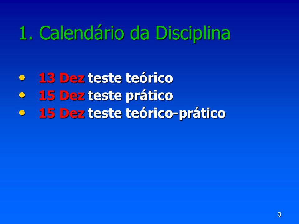 4 MêsDiaTPTP Setembro 3ª20Introdução 5ª22Introdução, Soluções, Diluições Algarismos significativos Cal.