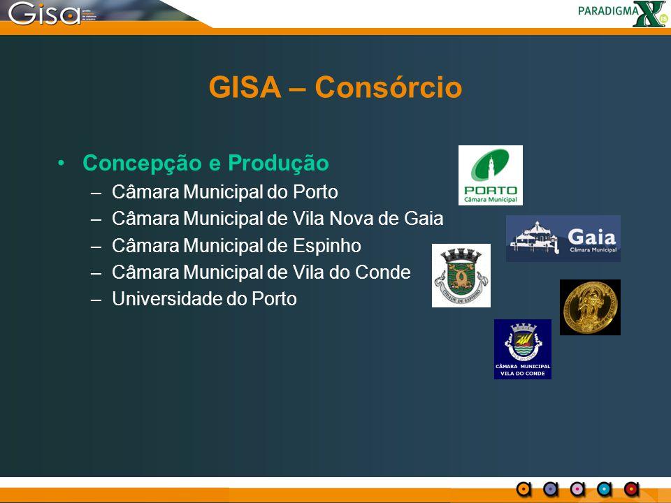 GISA: Serviços Migração de dados entre BDs de diferentes gamas de produtos GISA ( gratuito ) Migração de dados de sistemas existentes antes do GISA Consultadoria Formação