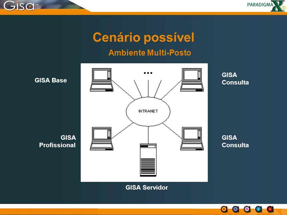 Cenário possível GISA Consulta GISA Base GISA Profissional GISA Consulta GISA Servidor Ambiente Multi-Posto