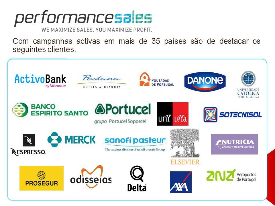 Com campanhas activas em mais de 35 países são de destacar os seguintes clientes: