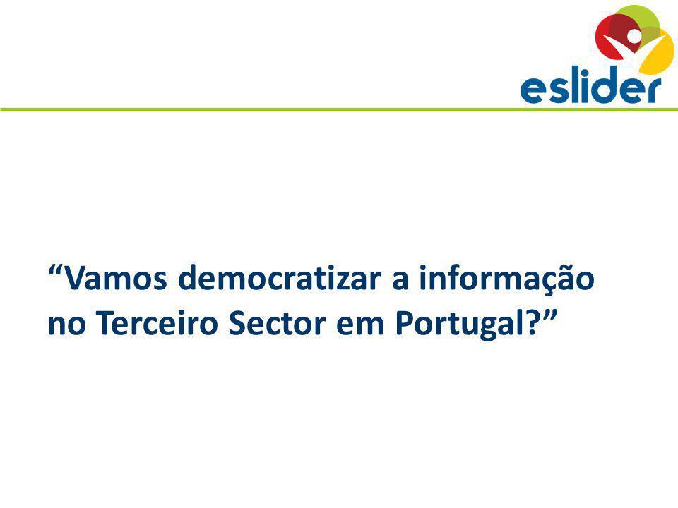 Vamos democratizar a informação no Terceiro Sector em Portugal