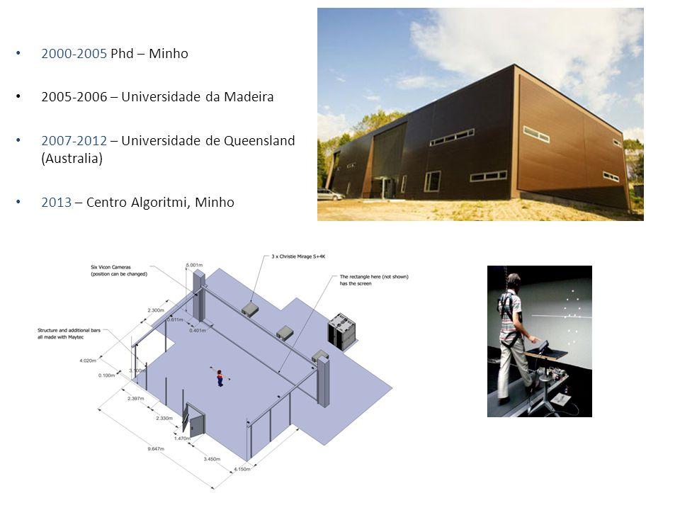 2000-2005 Phd – Minho 2005-2006 – Universidade da Madeira 2007-2012 – Universidade de Queensland (Australia) 2013 – Centro Algoritmi, Minho