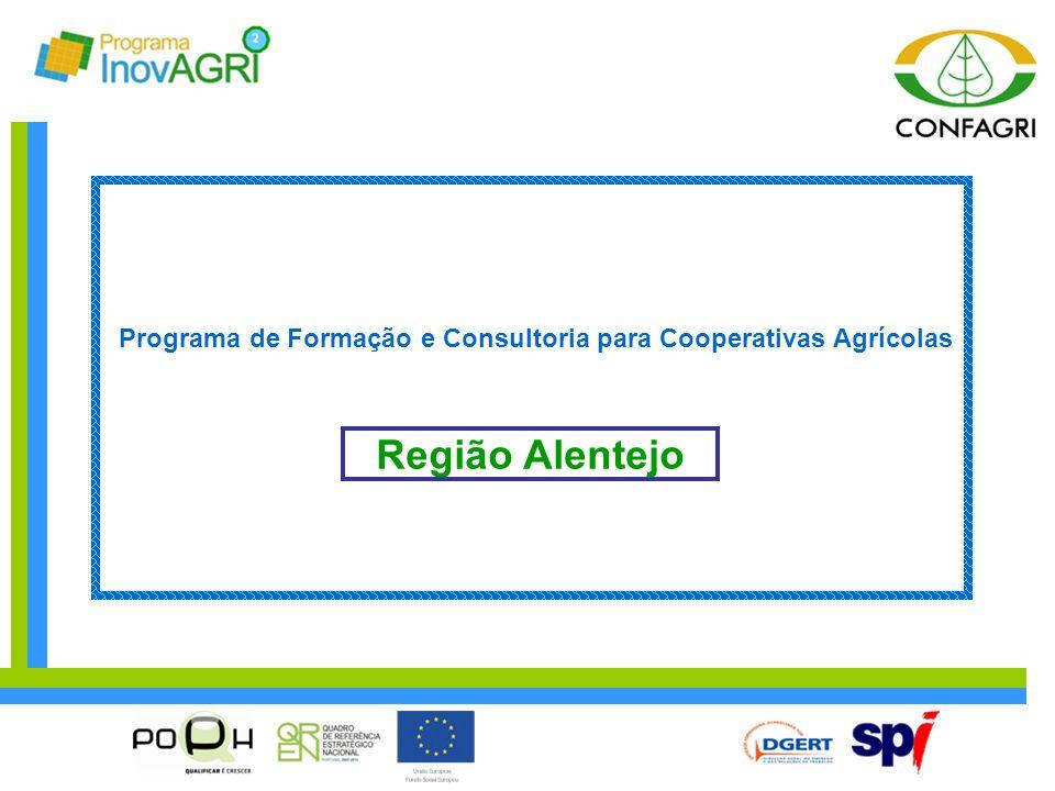 Região Alentejo Programa de Formação e Consultoria para Cooperativas Agrícolas