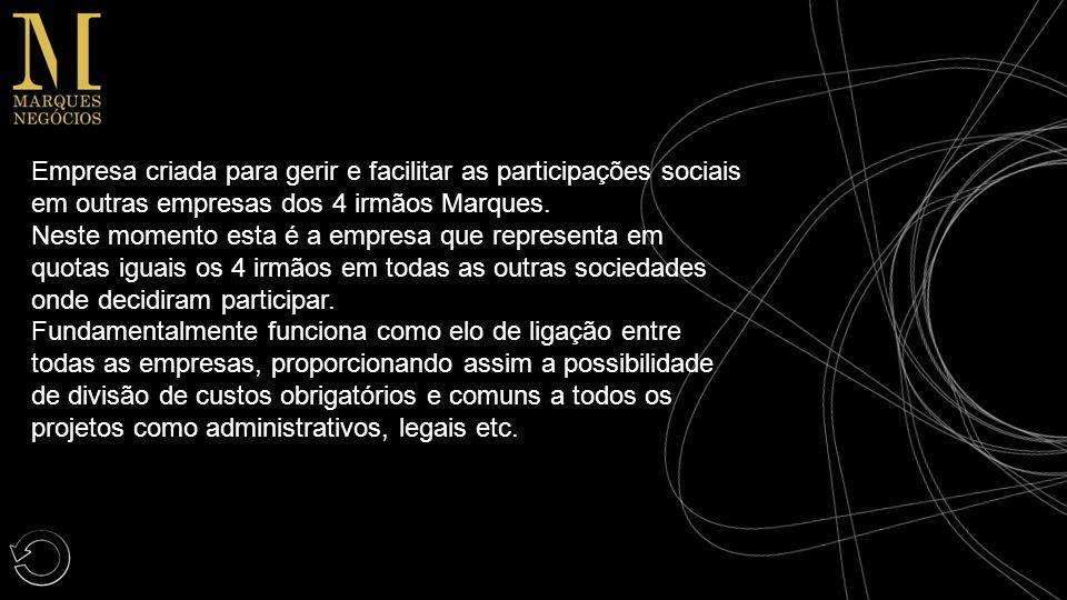 Empresa criada para gerir e facilitar as participações sociais em outras empresas dos 4 irmãos Marques.