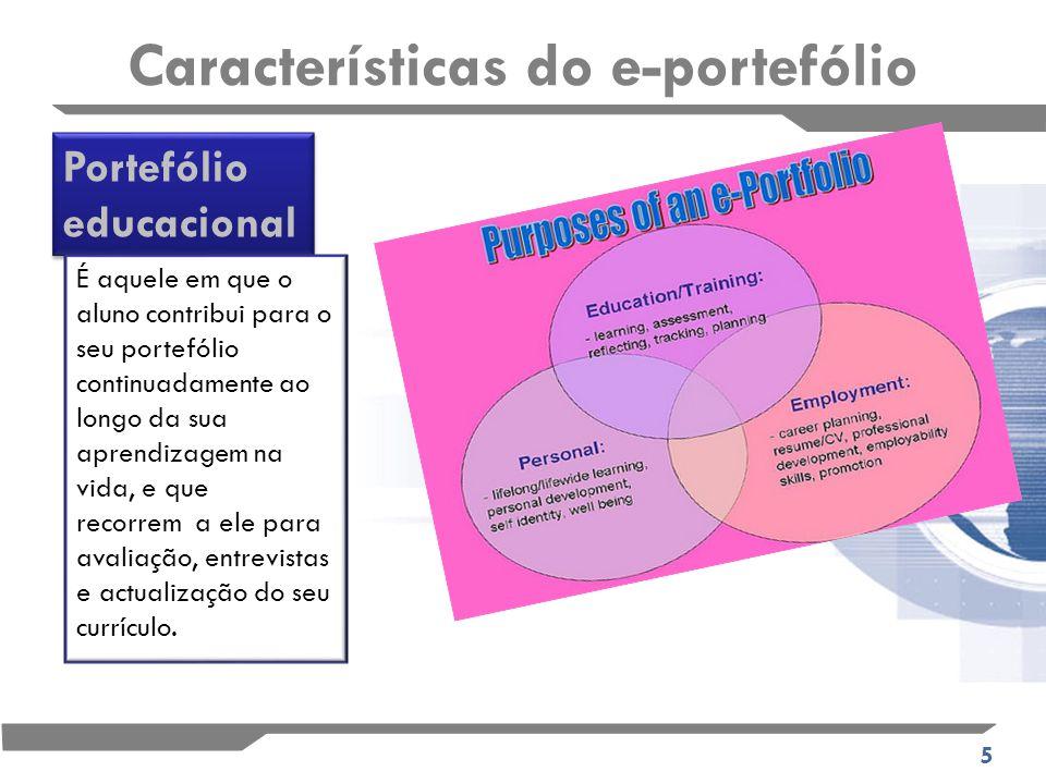 16 ESTUDO DE CASO: O E-portefólio usado com objectos de aprendizagem para avaliação final de um curso Nenhum conselho foi dado sobre como seleccionar objectos de aprendizagem para apresentar no e- portfólio.
