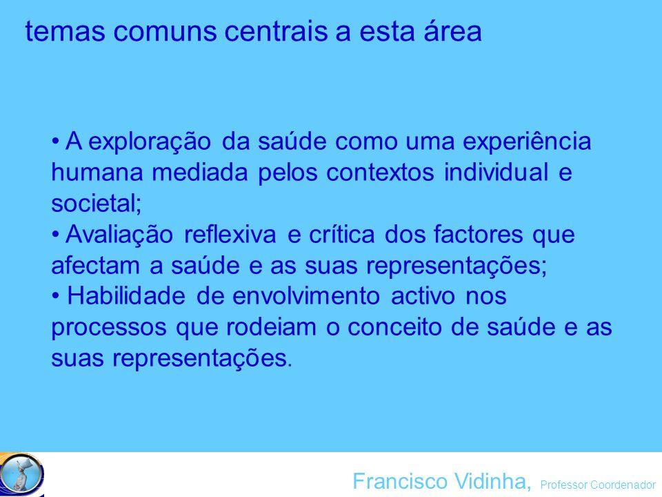 Francisco Vidinha, Professor Coordenador 1.contexto geográfico e os recursos materiais da Escola; 2.áreas profissionais susceptíveis de crescimento sustentável Pressupostos Básicos: