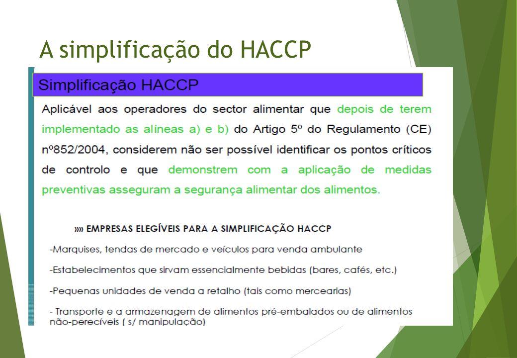 A simplificação do HACCP